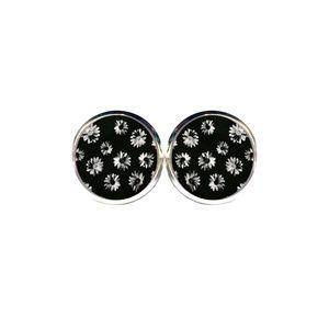 Black & White Daisy Earrings